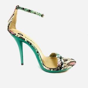 M by Michael Antonio Mint Snake Print Heels